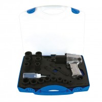 Pistol pneumatic si set de capete chei tubulare 1/2 inch, Unior