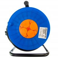 Derulator cablu electric Hepol, 4 prize, 50 m, 3 x 2.5 mmp, contact de protectie
