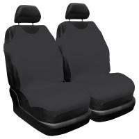 Huse auto pentru scaun, Carmax, negru, tip maieu, universale, set 2 bucati