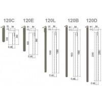Teava pentru ancorare schela, D22 mm, GT80070
