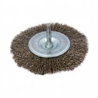 Perie circulara, cu tija, pentru inox / aluminiu, diametru 100 mm