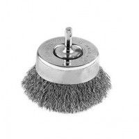 Perie cupa, cu tija, pentru inox / aluminiu, Peromex 5228G, diametru 75 mm