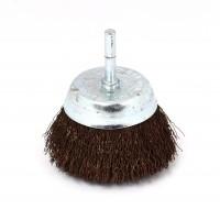 Perie cupa, cu tija, pentru metale / piatra / lemn, Peromex 5222V, diametru 75 mm