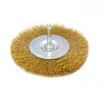 Perie circulara, cu tija, pentru metale moi, Peromex 714106G, diametru 100 mm