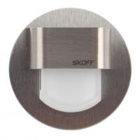 Spot LED alb incastrat Rueda Mini Skoff, 0.40W, inox