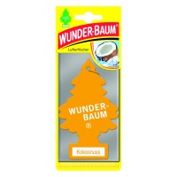Odorizant auto, bradut, Wunder - Baum, Nuca de cocos, 7.6 x 0.3 x 19 cm