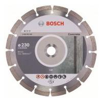 Disc diamantat, cu segmente, pentru debitare beton, Bosch Standard for Concrete, 230 x 22.23 x 2.3 x 10 mm, 2608602200