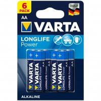Baterie Varta Longlife Power 4906, AA / LR6, alcalina, 6 buc