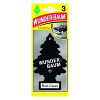 Odorizant auto, bradut, Wunder - Baum, Black Classic, pachet promo 2+1, 7.6 x 0.8 x 19 cm