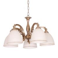 Lustra Victoria KL 7012, 5 x E27, bronz + alb