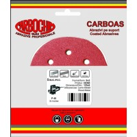 Disc abraziv cu autofixare, pentru lemn / vopsea / lac / chit, Carbochim AS SV1, 125 x 22 mm, granulatie 400