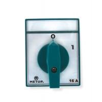 Comutator circular cu came Metop 63-005, 3 poli, pozitie 0-1, 16A