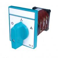 Comutator circular cu came stea-triunghi Metop 63-032, 3 poli, pozitie 0-Y-D, 25A