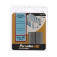 Capse tip 2, 12 mm, Black&Decker, Piranha X70212, set 1200 bucati