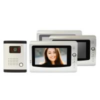 Videointerfon 3 monitoare PNI DF-926-3 LCD 7 inch, infrarosu