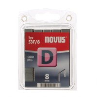 Cleme plate, Novus D 53 F, 8 mm, set 1200 bucati