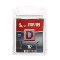 Cleme plate, Novus D 53 F, 10 mm, set 600 bucati