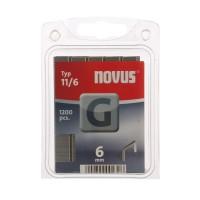 Cleme plate, Novus G 11, 6 mm, set 1200 bucati