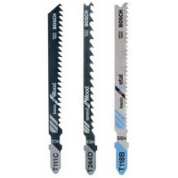 Panze fierastrau vertical, pentru plastic / lemn / metal, Bosch 2609256741, set 3 bucati