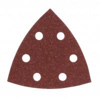 Hartie abraziva pentru slefuitor delta, pentru lemn, Bosch A50, 2609256064, 93 mm, granulatie 80, set 5 bucati