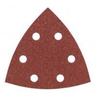 Hartie abraziva pentru slefuitor delta, pentru lemn, Bosch A51, 2609256065, 93 mm, granulatie 120, set 5 bucati