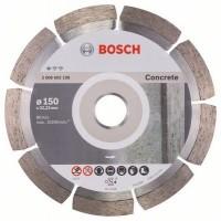 Disc diamantat, cu segmente, pentru debitare beton, Bosch Standard for Concrete, 150 x 22.23 x 2 x 10 mm, 2608602198
