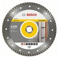 Disc diamantat, continuu, pentru debitare beton / piatra, Bosch Standard for Universal Turbo, 230 x 22.23 x 2.5 mm, 2608602397