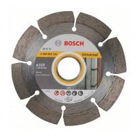 Disc diamantat, cu segmente, pentru debitare beton / piatra, Bosch Standard for Universal, 115 x 22.23 x 1.6 x 10 mm, 2608602191