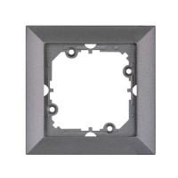 Rama Perla RA-1P AN, 1 post, antracit metalizat, pentru priza / intrerupator