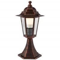 Stalp de iluminat ornamental London 6104C, 1 x E27, H 40.9 cm, cupru