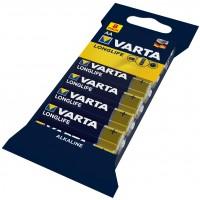 Baterie Varta Longlife 4106, AA / LR6, alcalina, 8 buc
