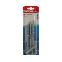 Prezon lemn / metal, Fischer STS, din otel, 8 x 140 mm + diblu nylon, UX 10, set 4 bucati