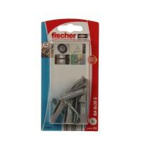 Diblu pentru fixari in cavitati, din nylon, Fischer NA, cu surub 8 x 30 mm, 5 bucati