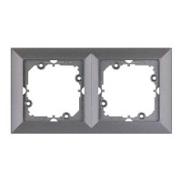 Rama Perla RA-2P AN, 2 posturi, antracit metalizat, pentru priza / intrerupator