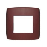 Rama Esperia 300554-28, 2 module, rosu bordo, pentru priza / intrerupator