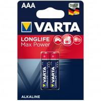 Baterie Varta Longlife Max Power 4703, AAA / LR3, alcalina, 2 buc