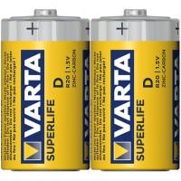 Baterie Varta Superlife 2020, D / LR20, zinc - carbon, 2 buc