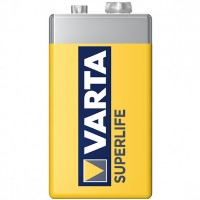 Baterie Varta Superlife 2022, 9 V / 6F22, zinc - carbon