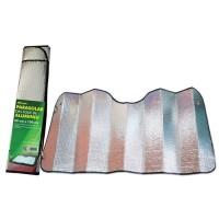 Parasolar auto, pentru parbriz, Ro Group, folie aluminiu, 2 fete, 60 x 130 cm