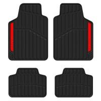 Covorase auto Sport Red Line, PVC, 34 x 44 / 65 x 45 cm, set 4 bucati