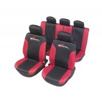 Huse auto pentru scaun, mesh rosu/negru