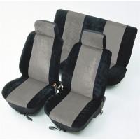 Huse auto pentru scaun, universale, antracit, set 8 bucati, 50 x 33 x 7 cm