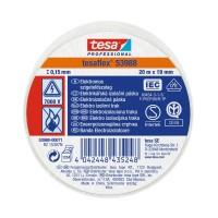 Banda electroizolatoare tesa Professional 53988, alba, 20 m x 0.13 mm x 19 mm