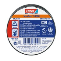 Banda electroizolatoare tesa Professional 53988, neagra, 20 m x 19 mm