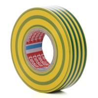 Banda izolatoare Tesa 53947, ignifuga, galben cu verde 20 m x 19 mm