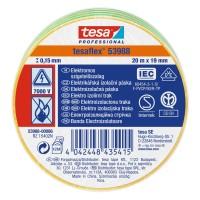 Banda electroizolatoare tesa Professional 53988, galben / verde, 20 m x 19 mm