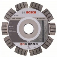 Disc diamantat, cu segmente, pentru debitare beton, Bosch Best for Concrete,  125 x 22.23 x 2.2 x 12 mm, 2608602652