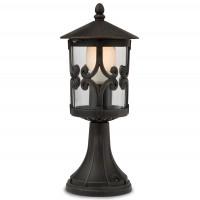 Stalp de iluminat ornamental Tirol 9263, 1 x E27, H 41.2 cm, finisaj ruginiu