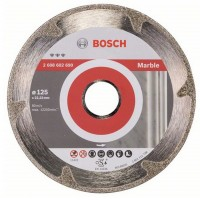 Disc diamantat, continuu, pentru debitare marmura, Bosch Best for Marble,125 x 22.23 x 2.2 mm, 2608602690