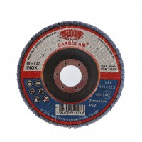 Disc lamelar frontal, pentru otel / inox, Carbochim SFI, 115 x 22 mm, granulatie 40